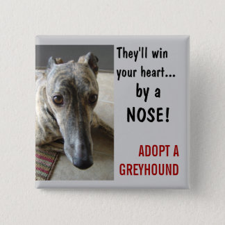 by a NOSE! 15 Cm Square Badge