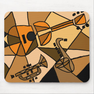 BY- Abstract Art Music Mouse Pad