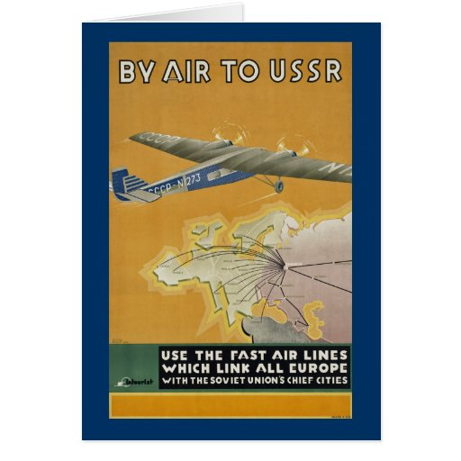 By Air to USSR Greeting Cards