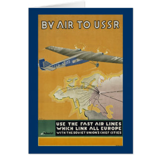 By Air to USSR Greeting Card