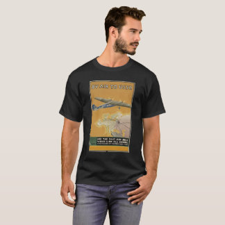 BY AIR TO USSR vintage picture. T-Shirt