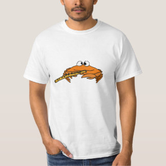 BY- Crab Playing the Flute T-shirt