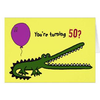 BY- Funny Croc 50th Birthday Card