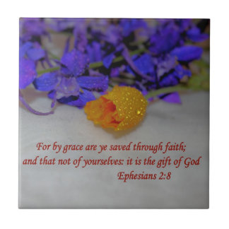 By Grace - Ephesians 2:8 Ceramic Tile