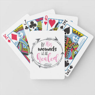 By His Wounds we are Healed Bicycle Playing Cards