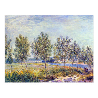 By meadow by Alfred Sisley Postcard