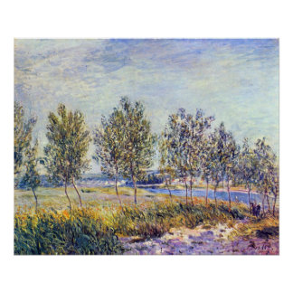 By meadow by Alfred Sisley Poster