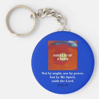 BY MY SPIRIT/SHIELD OF FAITH BASIC ROUND BUTTON KEY RING