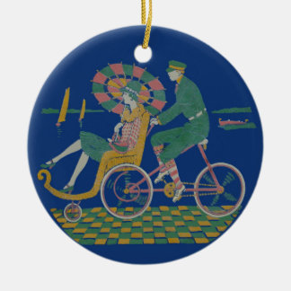 By the Beautiful Sea Round Ceramic Decoration