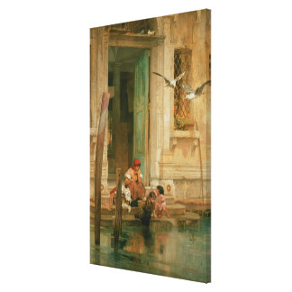 By the Canal, Venice Canvas Print
