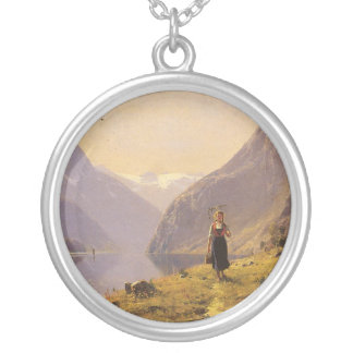 By the Fjord (Norwegian) by Hans Dahl Silver Plated Necklace