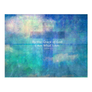 By the grace of God I am what I am - BIBLE VERSE Postcard