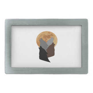 By the Light of the Moon Rectangular Belt Buckle