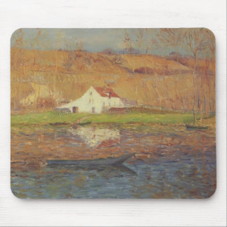 By the Loing River by Gustave Loiseau Mousepad