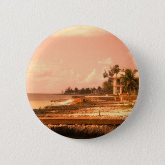 By The Ocean (Peach Tone) 6 Cm Round Badge