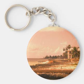 By The Ocean (Peach Tone) Key Ring