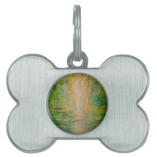 By the pond pet name tag