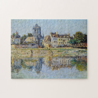 By the River at Vernon Monet Fine Art Jigsaw Puzzle