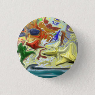 By the Sea 3 Cm Round Badge