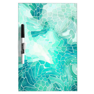 By the Sea, abstract mosaic print. Dry Erase Board