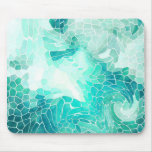 By the Sea, abstract mosaic print. Mouse Pad