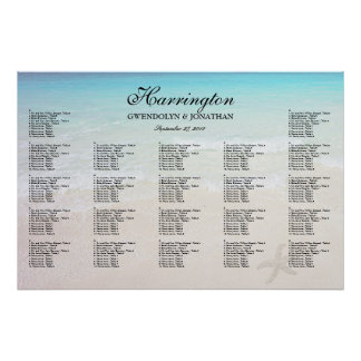 By the Sea Beach Wedding Reception Seating Chart