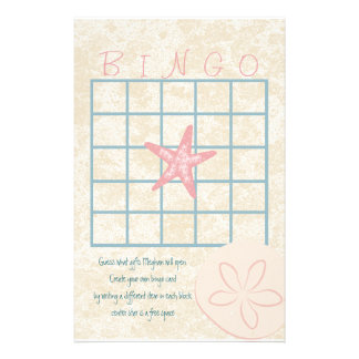 By the Sea Bingo Personalized Stationery