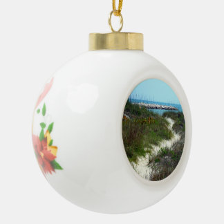 By the Sea Ceramic Ball Christmas Ornament