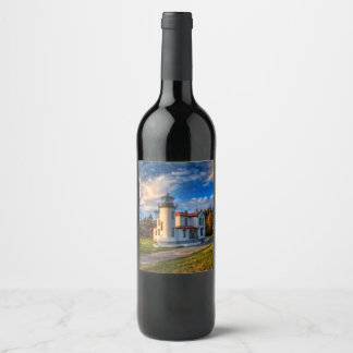 By the Sea Light House Wine Label