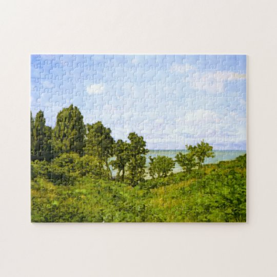By the Sea Monet Fine Art Jigsaw Puzzle