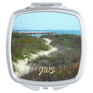 By the Sea Monogrammed Compact Mirrors