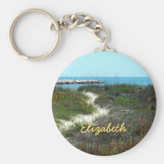 By the Sea Personalized Key Ring