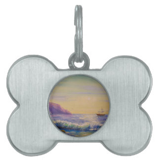 By the sea pet name tag