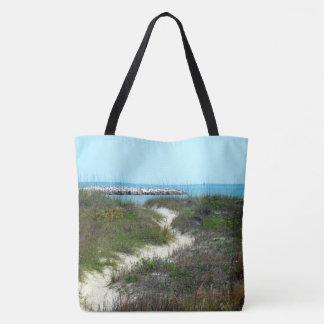 By the Sea Shore Scenic Tote Bag
