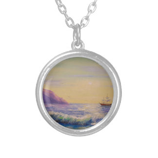 By the sea silver plated necklace