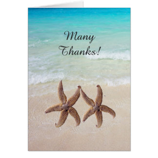 By the Sea Wedding Starfish Thank You Card