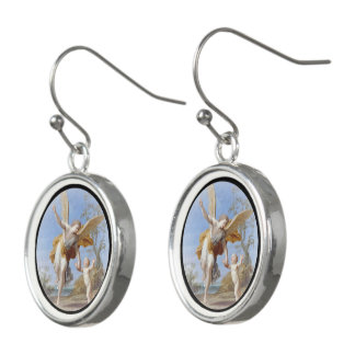 By the Seashore Angel and Child Earrings