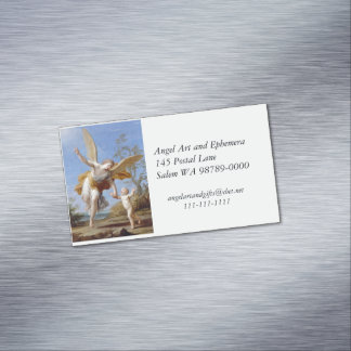 By the Seashore Angel and Child Magnetic Business Card