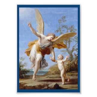 By the Seashore Angel and Child Photo Print