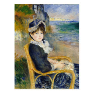 By the Seashore by Renoir Postcard