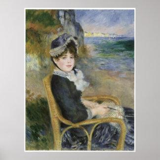 By the Seashore, Pierre-Auguste Renoir Poster