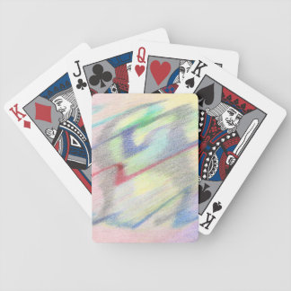 By the Seaside Colorfully Abstract Bicycle Cards
