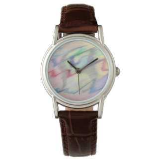 By the Seaside Colorfully Abstract Watch