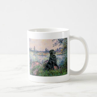 By the Seine - Flat Coated Retriever Mugs