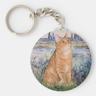 By the Seine - Orange Tabby Sh cat 46 Key Ring