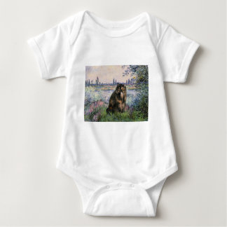 By the Seine - Persian Calico cat Baby Bodysuit