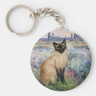 By the Seine - Seal Point Siamese cat Key Ring