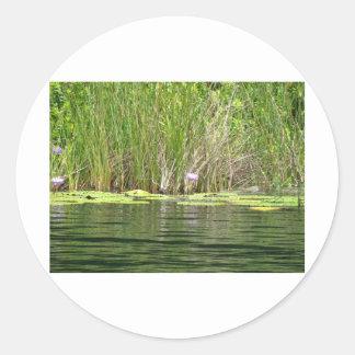 By the Water Round Sticker