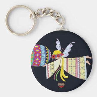 By the Wings of an Angel Ukrainian Folk Art Key Ring