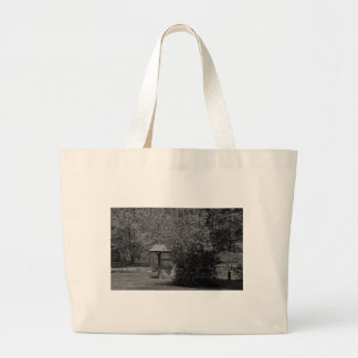 By the Wishing Well-horizontal Large Tote Bag